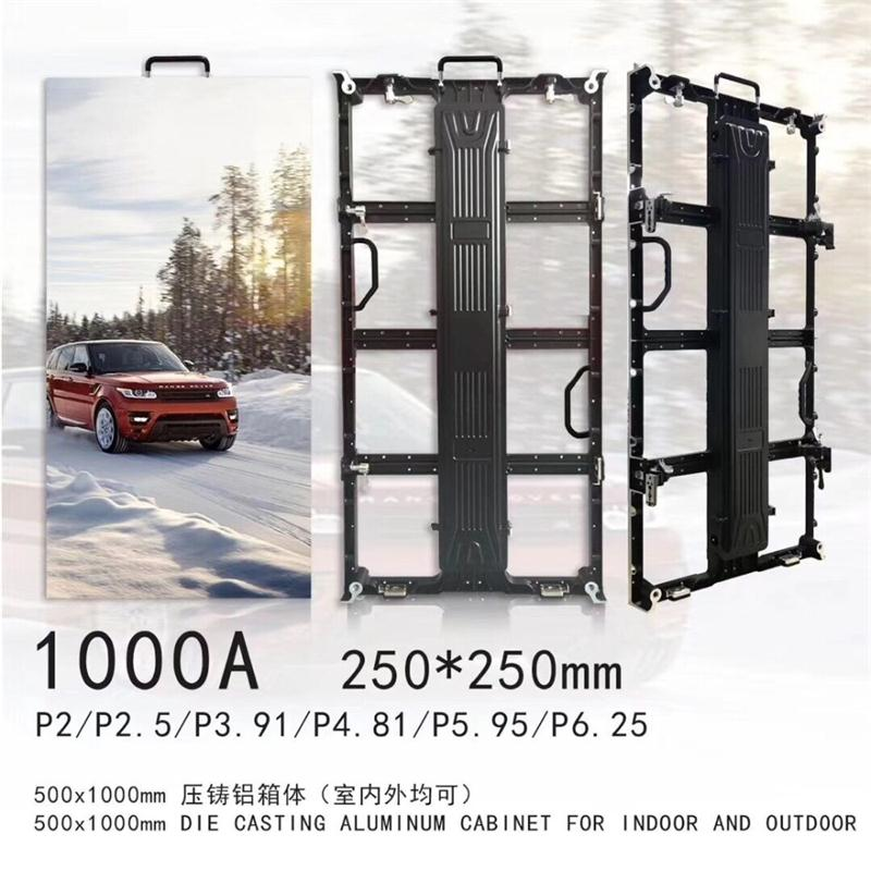 500x1000/500*500mm Indoor/outdoor  Empty Die Casting Aluminum Cabinet P3.91 P4.81 Empty Led Board Led Matrix For Business