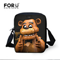 FORUDESIGNS 2017 Mini Crossbody Bags for Teenager Men Five Nights At Freddys Print Messenger Bag Mens Boy Sling Cross Body Bags