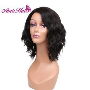 Image 3 - Amir perruque Bob synthétique courte ondulée, postiche Blonde, perruque ondulée à couleur naturelle pour femmes