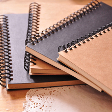 Sketch Book Memo Pad Notebook Office School Supplies Gift Sketchbook Diary for Drawing Painting Graffiti Soft Cover Black Paper bianyo professional sketchbook notebook a3 a4 note books 11 colors office paper tracing paper pad diary drawing art sketch book