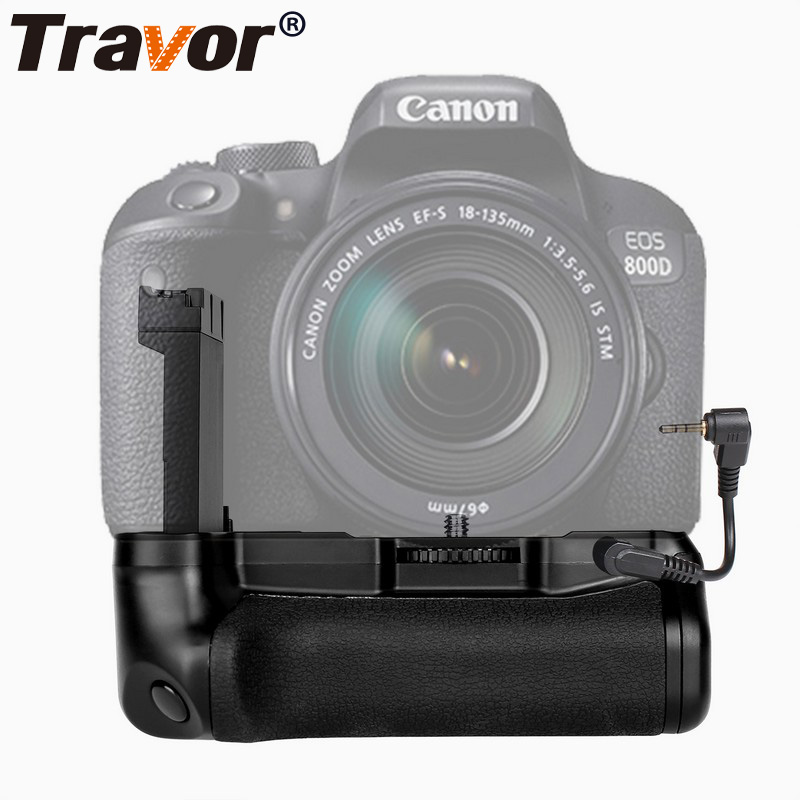 Travor Camera Vertical Battery Grip BG-1X For Canon EOS 800D Rebel T7i 77D Kiss X9i With Battery Holder Work With LP-EL17 travor battery grip pack holder for nikon d3100 d3200 d3300 dslr camera work with en el14 battery