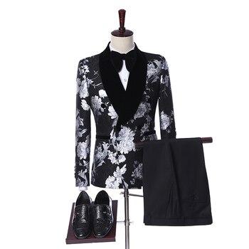 68d1dea1c Trajes de boda para hombres 2019 diseño de moda Slim Fit novio vestido de  boda Mens