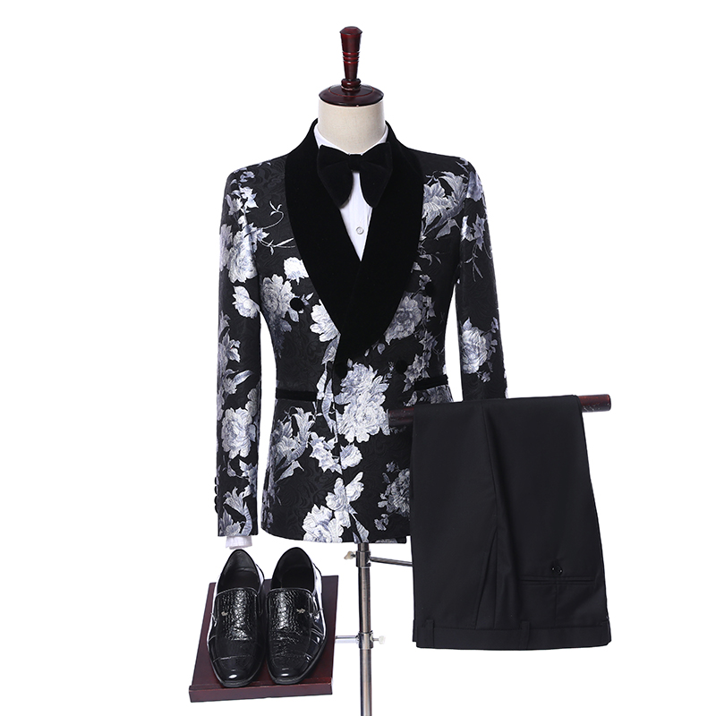 Wedding Suits For Men 2019 Fashion Design Slim Fit Groom Wedding Dress Mens Double Breasted Suits Tuxedo Best Man Jacket