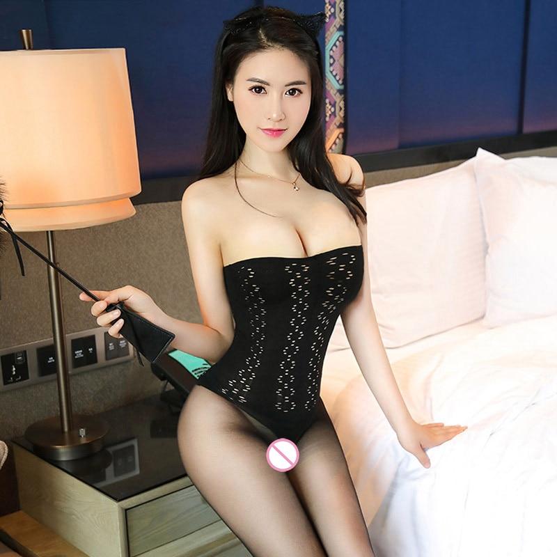 2018 Sexy Retro Strapless Open Crotch Bodystocking For -8640