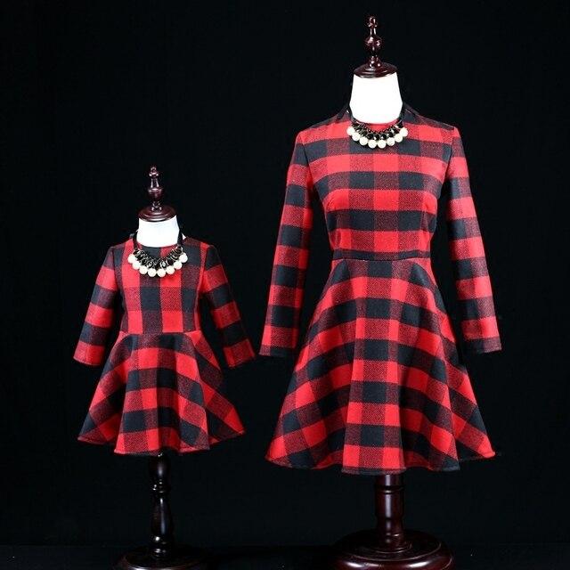 Семья clothing устанавливает женщины 3XL одежда девочки 1Y-16Y детские шерстяные обычный платье семья соответствующие наряды мать и дочь dressess