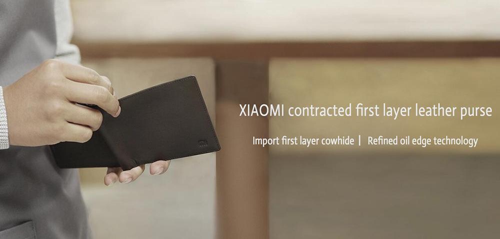 XIAOMI Mi Wallet Genuine Leather Black Purse Man Stylish Business Cowhide Standard Wallets High Quality Men Leather Wallets  (8)