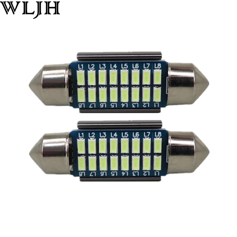 WLJH 2pcs CANbus LED 36mm C5W Lamp Bulb Registration Number Plate License Light For Benz W169 W203 W208 W209 W210 W211 W212 motorcycle tail tidy fender eliminator registration license plate holder bracket led light for ducati panigale 899 free shipping