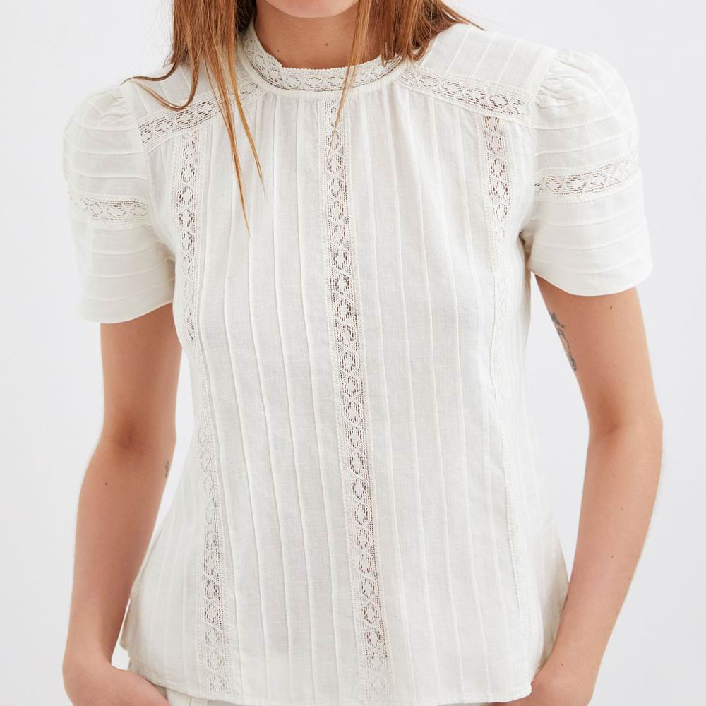 2019 za summer women's cotton   blouses   lace embroderied tops hollowout   blouses     Shirt   Womens Camisa Blusas Feminina   Blouse