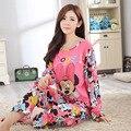 Новый Дизайн 2016 Наборы Пижамы Осень Пижамы Пижамы Пижамы mujer Домашней Одежды Леди Микки Стиль пижамы костюмы pijamas