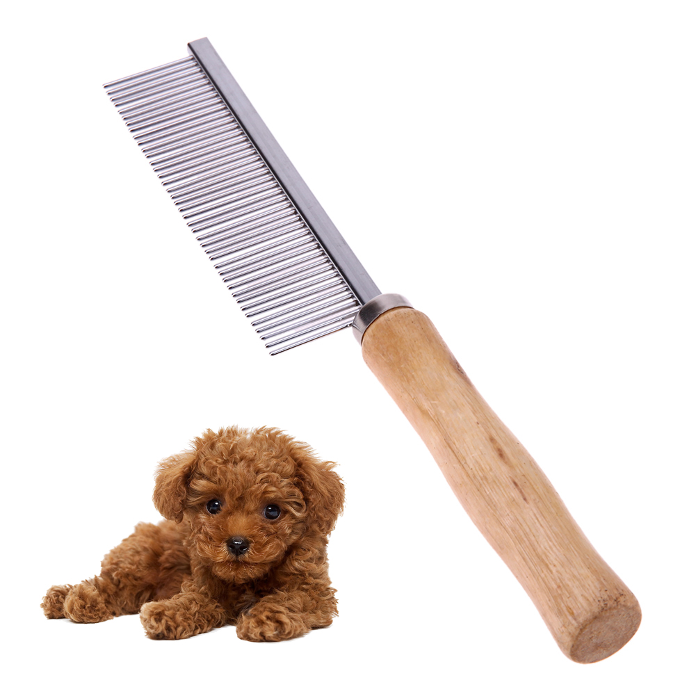 Dog <font><b>Comb</b></font> Stainless Steel <font><b>Pet</b></font> <font><b>Comb</b></font> for Dog Cat <font><b>Hair</b></font> <font><b>Removal</b></font> <font><b>Single</b></font> Row <font><b>Straight</b></font> <font><b>Comb</b></font> Dog Supplies E5M1