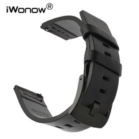 Italy Oil Leather Watchband 18mm 20mm 22mm 24mm Quick Release Watch Band Universal Wrist Strap Steel