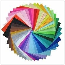 Полиэстер Чувствовал Ткань Ручной работы FAI TE TE Швейные Home Decor Толщина Материала 1 мм Цвета Смешивания 30×30 cm 11.8×11.8 inch