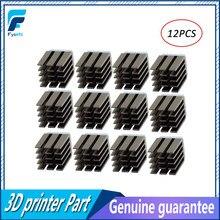 12pçs 3d impressora peças do driver de motor de passo, dissipadores de calor refrigerar, dissipador de calor ultra-silencioso para tmc2100 a4988 drv8825 tmc2208 tmc2130