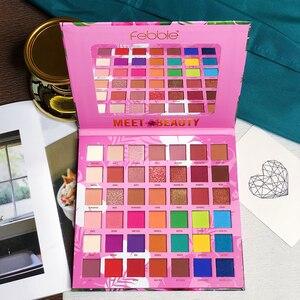 Image 2 - Palette de fards à paupières pigmentés, longue tenue, Palette de fard à paupières pigmentée, effet mat, beauté, Palette de maquillage