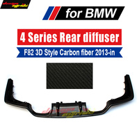 Real carbon fiber Car rear bumper lip spoiler diffuser for BMW F80 M3 F82 F83 M4 420i 2013 18 Standard And Convertible 3D Style