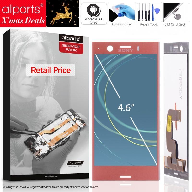 4.6 IPS Оригинальный тачскрин дисплей экран для SONY Xperia XZ1 сенсорный дисплей Оригинал LCD с тачскрином в рамке замена запчасти XZ1 MINI Черный белый ...