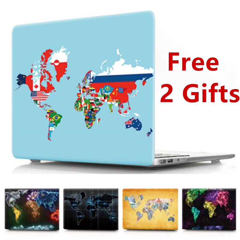 For Macbook Air 13 Case A1466 World Map Cover For Mac Book Pro 13 Inch A1708 Case For  MacBook Air Pro Retina 11 12 13 15 2018