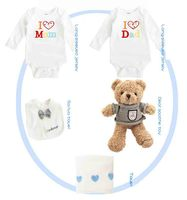 5 Pieces Baby Boy Spring Summer Sets Wear Long Sleeve Kids Bear Toy Blue Clothing