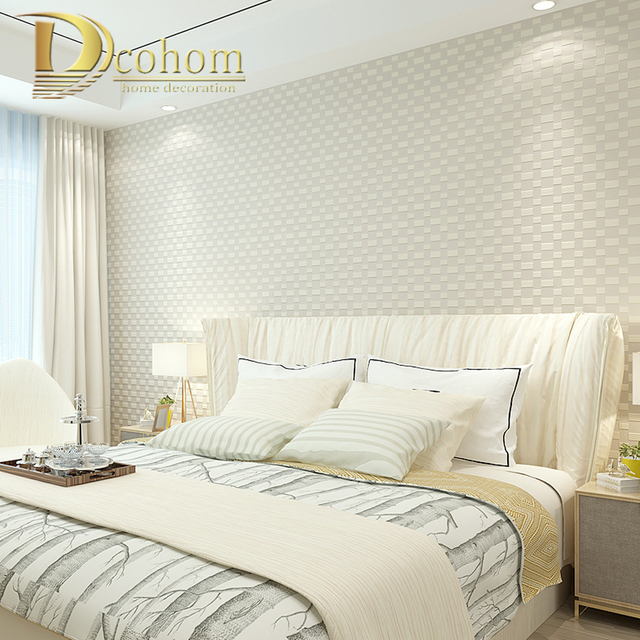 Simple Home Wallpaper Aliexpress  Buy Modern Simple 3D Mosaic Plaid Wallpaper For .