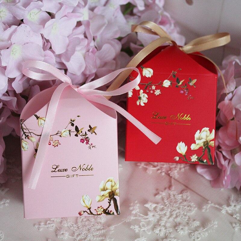 Nouveau paquet de boîte-cadeau de mariage créatif sac de bonbons cadeau doux pour mariage bébé douche anniversaire invités faveurs événement fête décoration