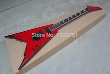 Free shipping EMG Pickups one piece set No Scarf Jackson PDX-2 Flying V Red Electric Guitar with Floyd Rose Tremolo .