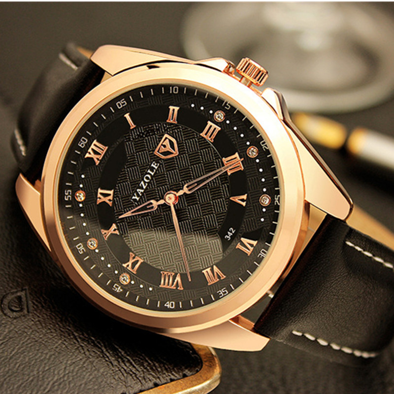 YAZOLE Mens Watches Top Brand Luxury Watch Men Wrist Watch Fashion Roman Men's Watch Clock relogio masculino erkek kol saati 2017 mens business watches top brand luxury chronograph watch sport quartz wrist watch men clock male relogio erkek kol saati