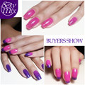 Sexymix Temperature Mood Color Changing Nail Gel Polish Long-lasting Professional Cheap LED French Manicure Gel Lacquer 7ML