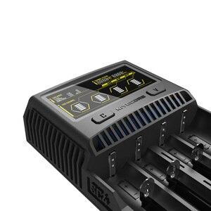 Image 4 - NITECORE SC4 akıllı hızlı şarj süper şarj cihazı 4 yuvaları 6A toplam çıkış IMR 18650 14450 16340 AA pil + araç şarj cihazı D5