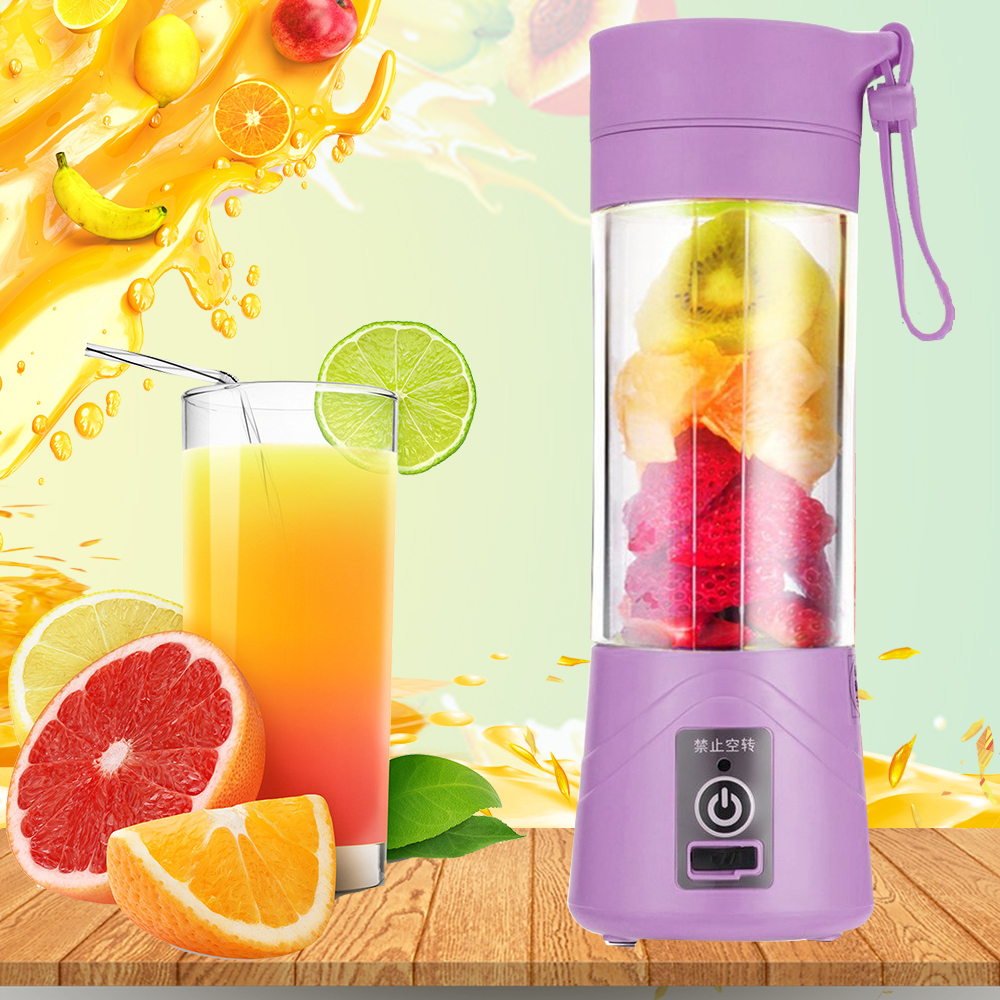 Portable 380ml Electric Fruit Citrus Juicer Blender USB Juicer Bottle Cup Handheld Milkshake Smoothie Maker Rechargeable Blender