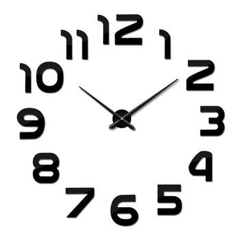 top fashion 3d wall clock reloj de pared quartz watch modern diy clocks living room large decorative horloge murale  stickers 14