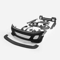 Car Accessories For R56 Mini Cooper S 2014 On LB Style FRP Fiber Glass Full Wide Body (3 Door Hatch Only) Fiberglass Bodykit Set