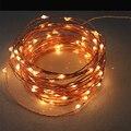 Alta Quanlity 20 M 66ft 200 100leds Fio de Cobre LED Estrelado Luzes Seqüência de Luz Inclui Adaptador de Alimentação (EUA, Plugue DA UE)