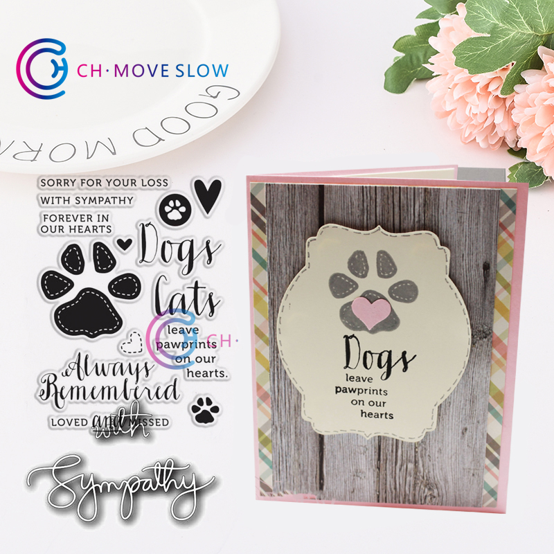 Dog Paw print Metal Cutting Dies For Stencil Embossing Scrap booking Paper TO