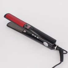 On sale Professional Straightening Iron Fast Heating  Styling Tool LCD Display High Temperature Titanium plates MCH Hair Straightener