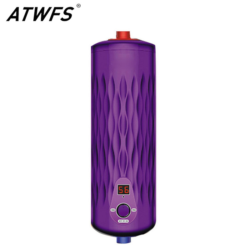 ATWFS Tankless Water Heater 220V 5500W Thermostat Digital Electric Heater Kitchen & Bath Instant Hot Water Heaters atwfs tankless water heater 220v 5500w thermostat digital electric heater kitchen