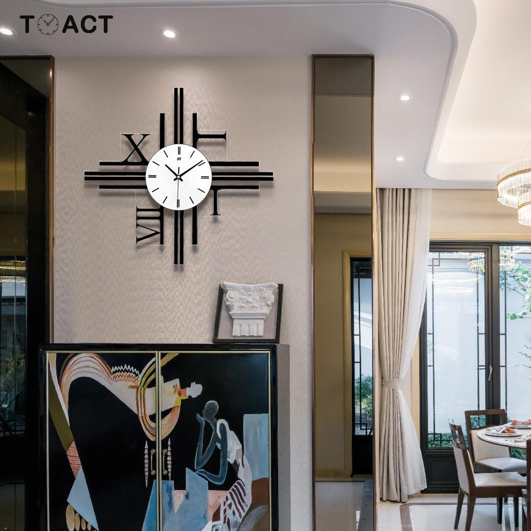 Grande horloge murale numérique acrylique horloges miroir silencieux carré moderne minimaliste grandes montres murales décorations de montre à la maison