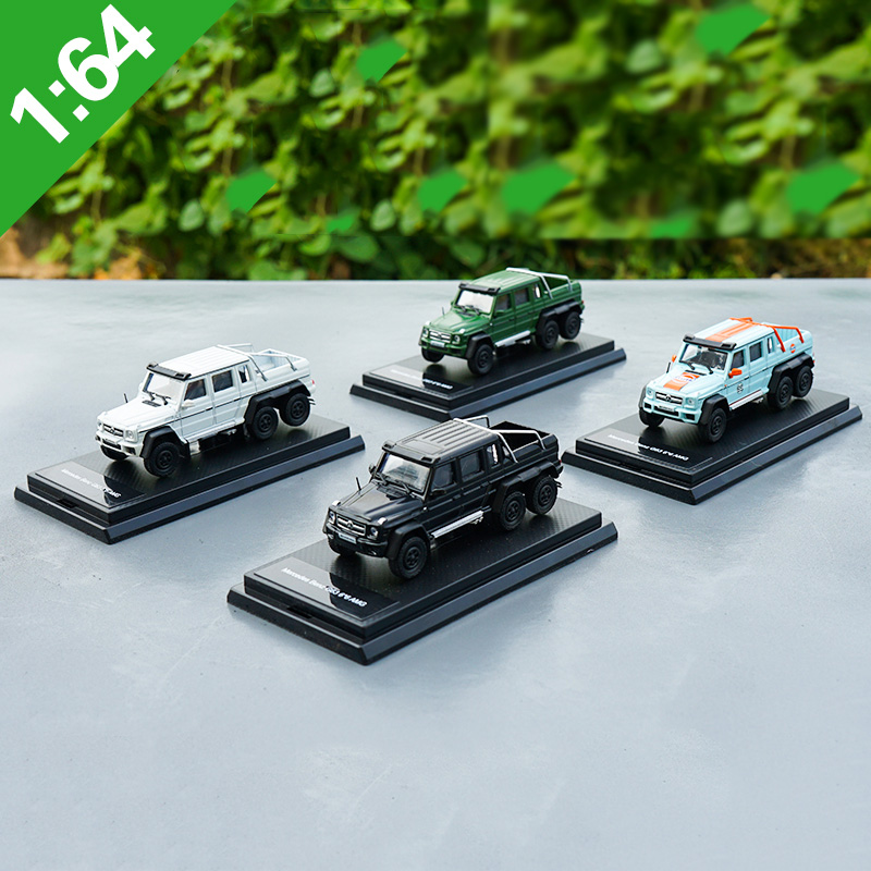 1:64 Alloy Toy Sports Car Model G63 6X6 AMG Mercedes Benz G of Children's Toy Cars Original Authorized Authentic Kids Toys Gift автомобиль majorette mercedes g63 black premium 7 5 см 1 64 белый