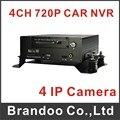 CARRO de 4 canais NVR, funciona com 4 pcs câmera IP em tempo real 720 P VÍDEO de ALTA QUALIDADE, apoio 3G/gps/wifi, modelo MNVR-8704