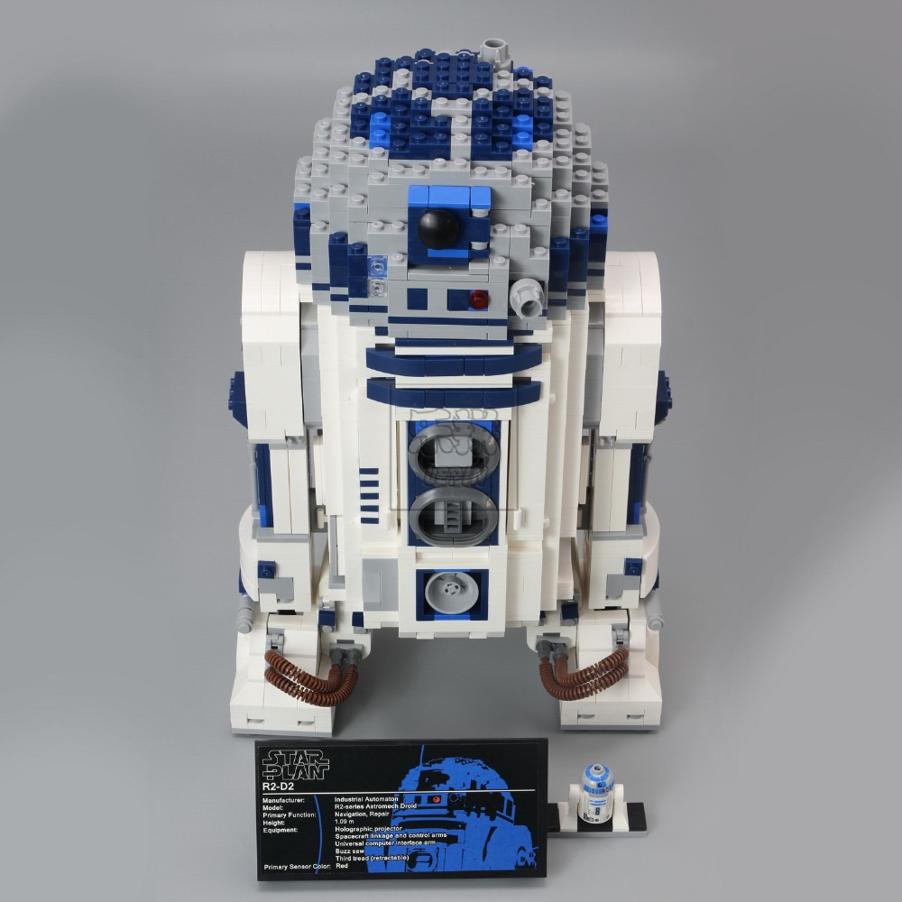 Lepin 05043 New Genuine Star Series The R2-D2 Robot Set Out of print Building Blocks Brick Toy for kids puzzel gift wars 10225 telecool 536 pcs knight series lion king castle 1010 building blocks brick set toy for kids christmas gift