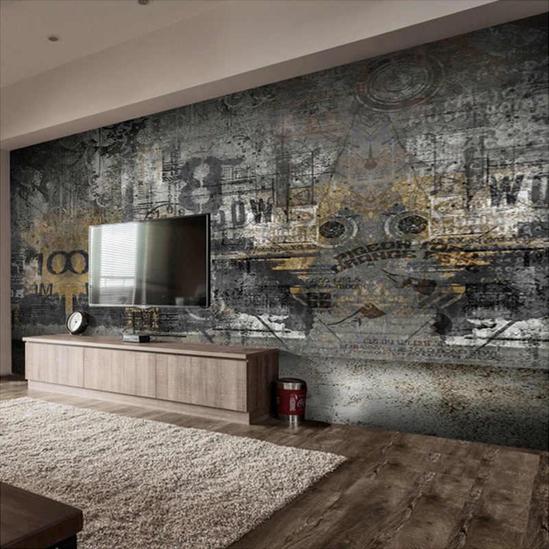 カスタム任意のサイズヨーロッパスタイルのストリートグラフィティアート人格寝室 Ktv レトロ 3D 大壁画壁紙ホーム装飾