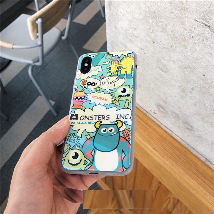 Cartoon Little Monster Couple for iphone X Mobile Shell Lanyard iPhone7plus/8/6s Lovers Soft shell