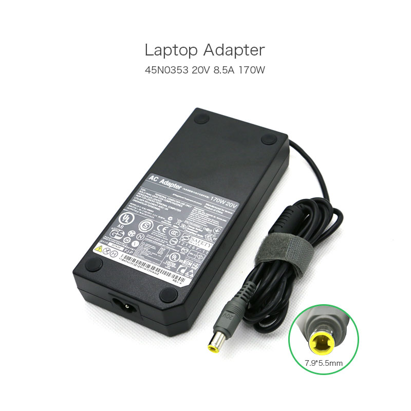 20V 8.5A 170W 7.9*5.5mm Laptop AC Adapter for Lenovo Thinkpad W700 W701DS 42T5284 42T5289 42T5288 45N0117 45N0118 Power Charger 20v 4 5a 90w adlx90ndc2a 36200285 45n0243 45n0244 laptop ac adapter for lenovo thinkpad x1 carbon series touch ultrabook
