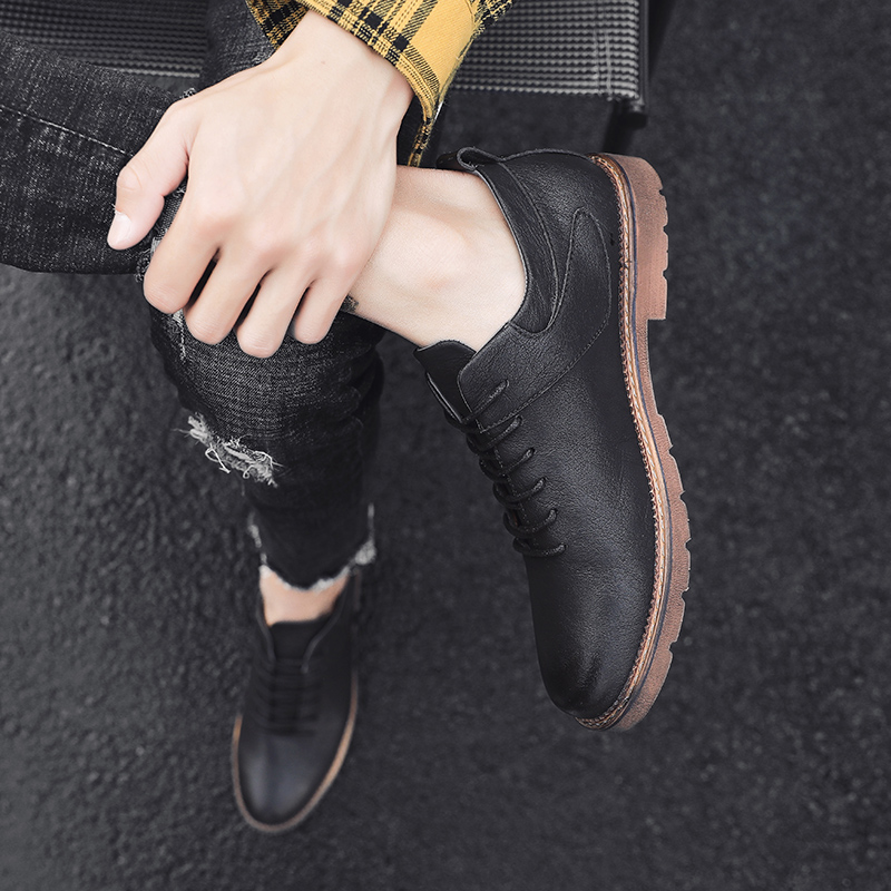 Brand Fashion Casual Leather Shoes outdoor Luxury brand Men lace up Leather Shoes Leather Men Sneakers Male Leather Shoes L5