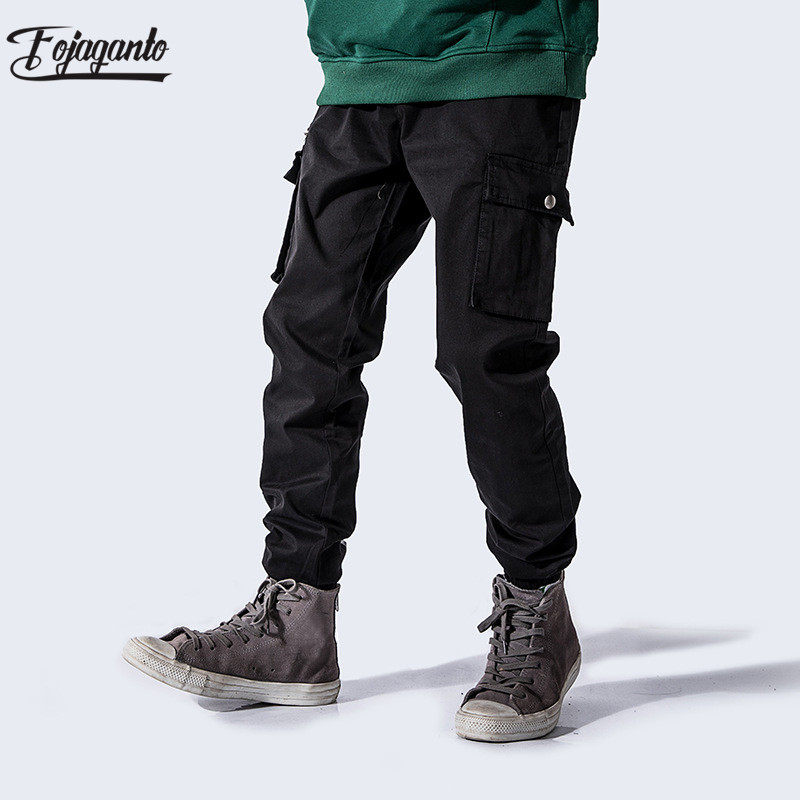 FOJAGANTO New Brand Men's Cargo Pants Multi Pocket Fashion Men Sweatpants Street Hip Hop Style Male Casual Sweatpants
