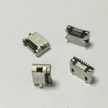 10pcs/lot Micro USB 5pin Female Connector For Mobile Phone Micro USB Charging Socket Straight Mouth Free Shipping