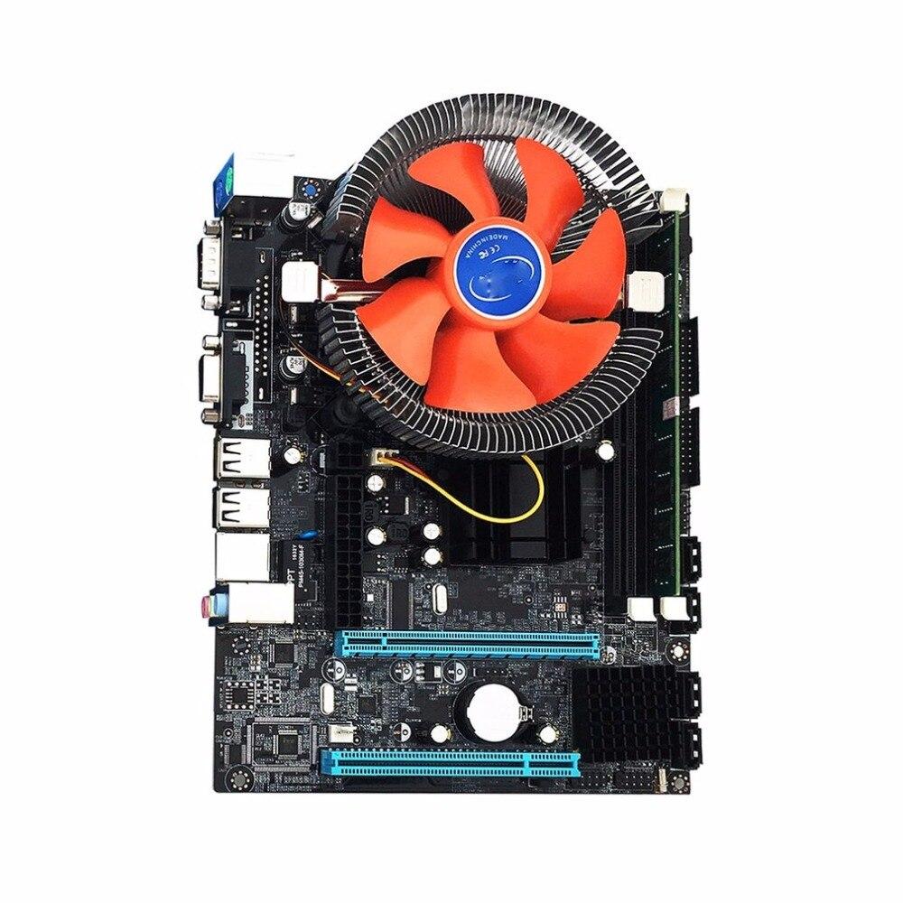 G41 Desktop PC Scheda Principale LGA775 Quad-core E5430 Combo Set 2.66g CPU + 4g di Memoria + forniture di Modifica Del Computer Ventola silenziosa