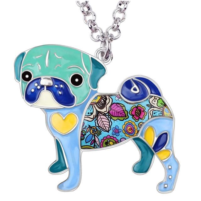 Cute Colorful Pug Shaped Pendant