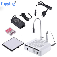 foyying 3 IN 1 Nail Art Equipment 30000RPM Drill Pen Dust Collector LED Light Vacuum Cleaner Fan Manicure Tool Kit Dust