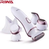 4 in 1 dame scheerapparaat scheermes vrouwen ontharing trimmer bikini/lichaam/gezicht/onderarm Wasbaar Oplaadbare elektrische Epilator