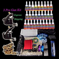 Kit de Tatuaje 28 tintas 5 ml Taty Solong Tinta Juego de Potencia Foot Pedal Supply Apretón de La Aguja Consejo MCY005-10 + MCY006-9 + M1303-3